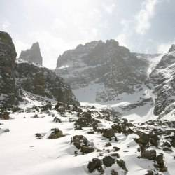 The Gash apron, and Sharkstooth, RMNP