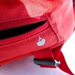 Helmet carrier zip pocket on top