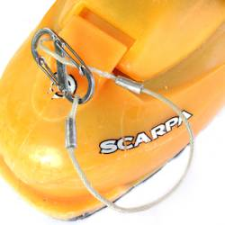 Prior setup with cable (non-breakaway) and carabiner