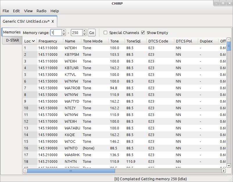 CHIRP Programming Software