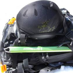 Helmet carrier does not interfer with access to compartments