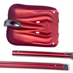 Oval telescopic shaft with integrated grip zone